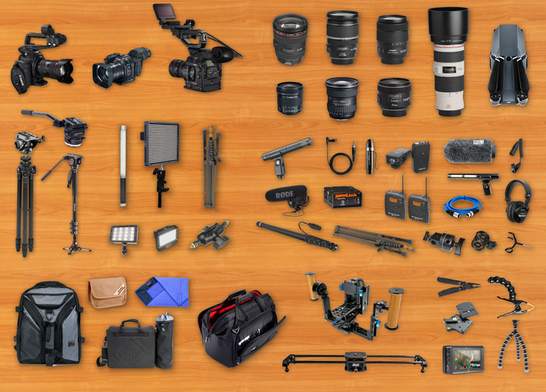 filmmaking equipment list for documentary video production
