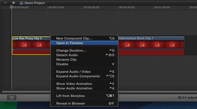 final-cut-pro-x-open-clip-in-timeline