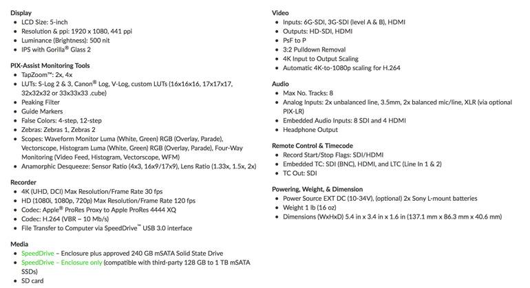 Video Devices PIX-E5H and PIX-LR Review