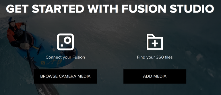 Fusion Windows Fusion Studio Splash Page