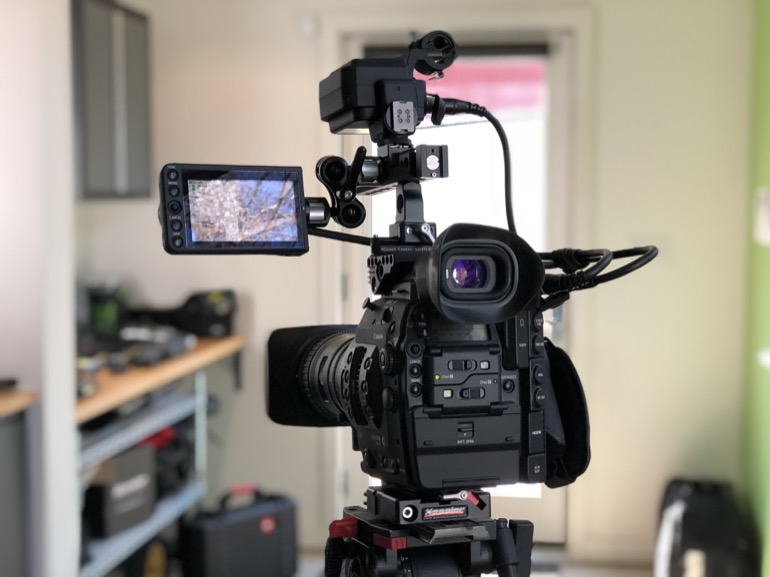 Canon C300 Mark II with LM-V1 Touchscreen Monitor