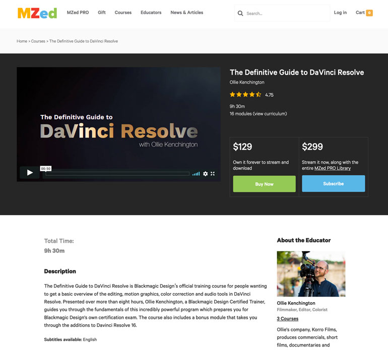 davinci-resolve-online-course