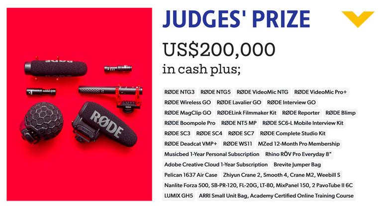 my rode reel judges prize
