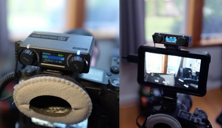 hollyland-lark-150-wireless-receiver-camera-mount