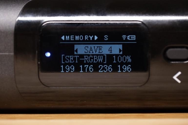 soonwell sensei rgb tube lights - st50 save rgbw custom mode
